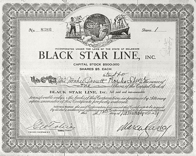 Eine alte Blackstar Aktie