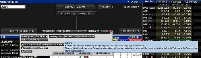 Aktienchart zur Market Order von MSN