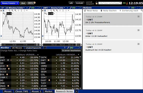 Trading Software Beispiel